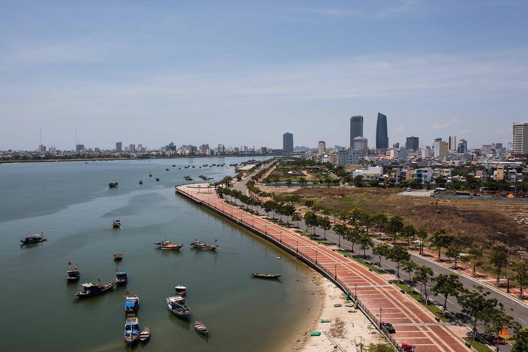 Vue sur la Baie de Danang, Vietnam