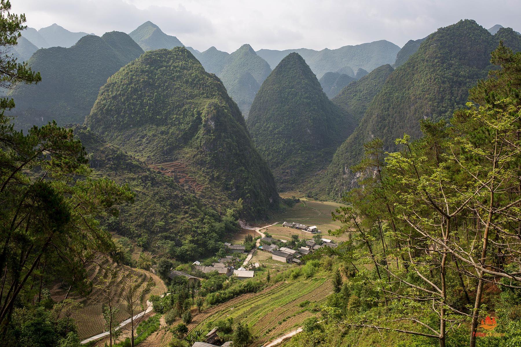 Montagnes de la province de Ha Giang, Vietnam