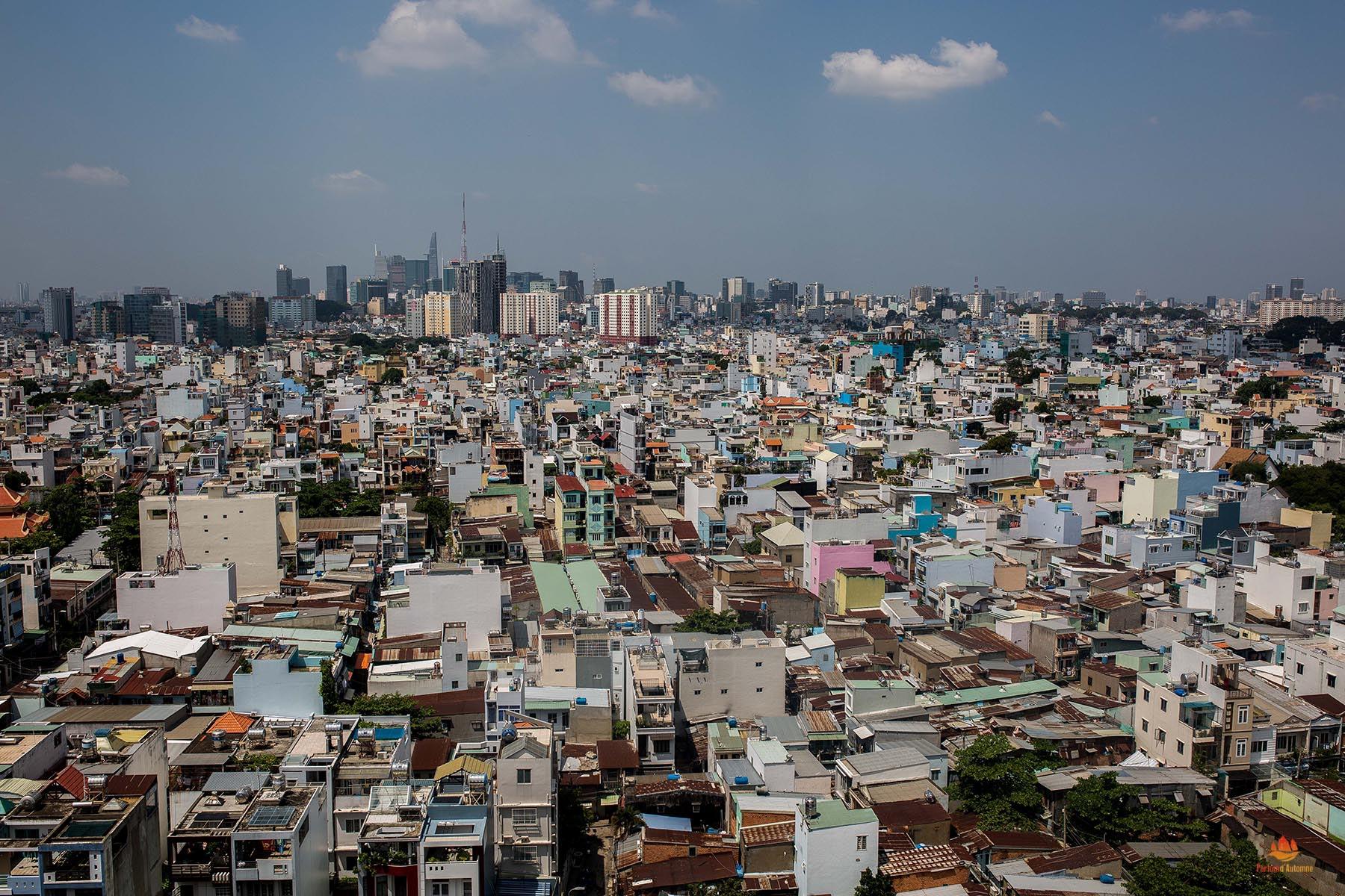 Densité des habitations, Saigon, Vietnam