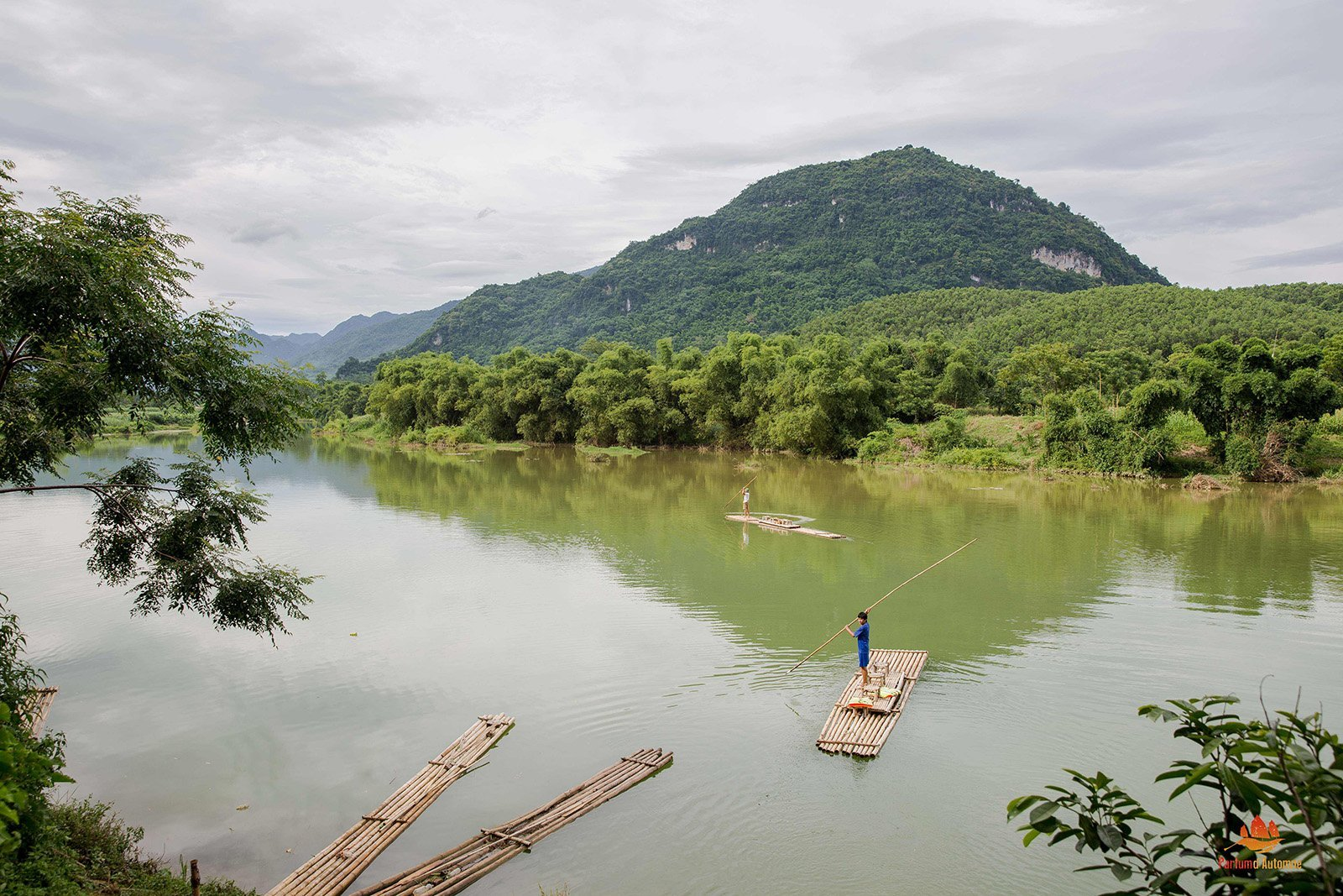 Rivière à Pu Luong, Vietnam