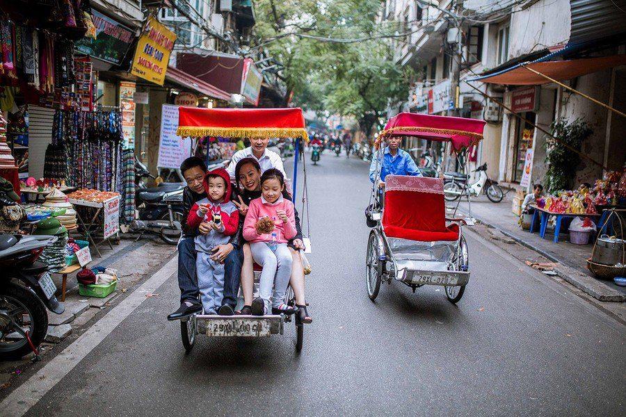 Balade en Cyclo Pousse à Hanoi