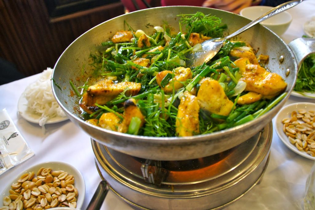 Cha Ca, plat de poisson de Hanoi, Vietnam