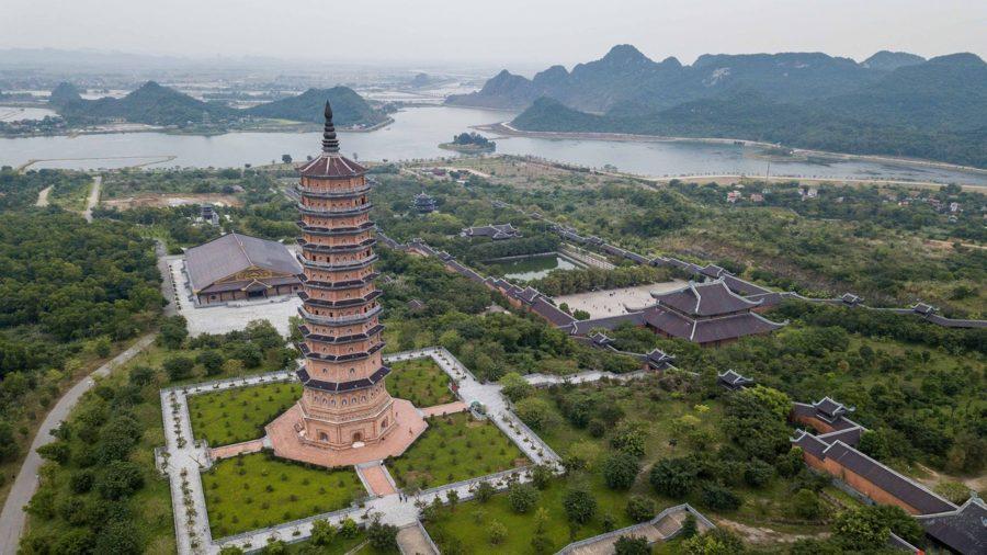 Vue aérienne de Bai Dinh, Ninh Binh, Vietnam