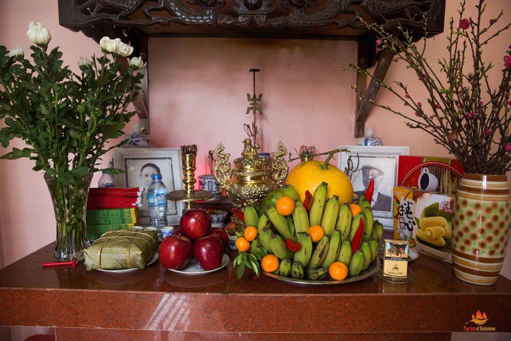 Hôtel des ancêtres dans une famille vietnamienne