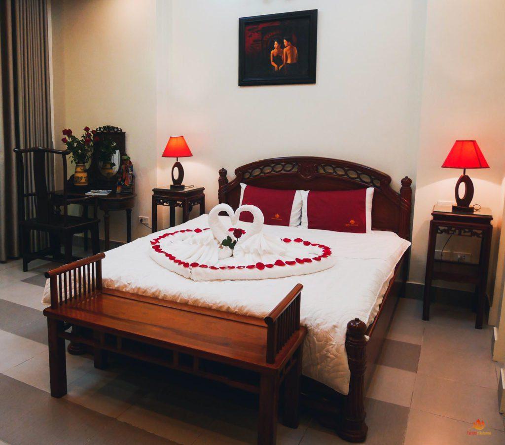 Lit double Maison d'Hotes Chez Huong Parfum d'Automne Hanoi, Vietnam