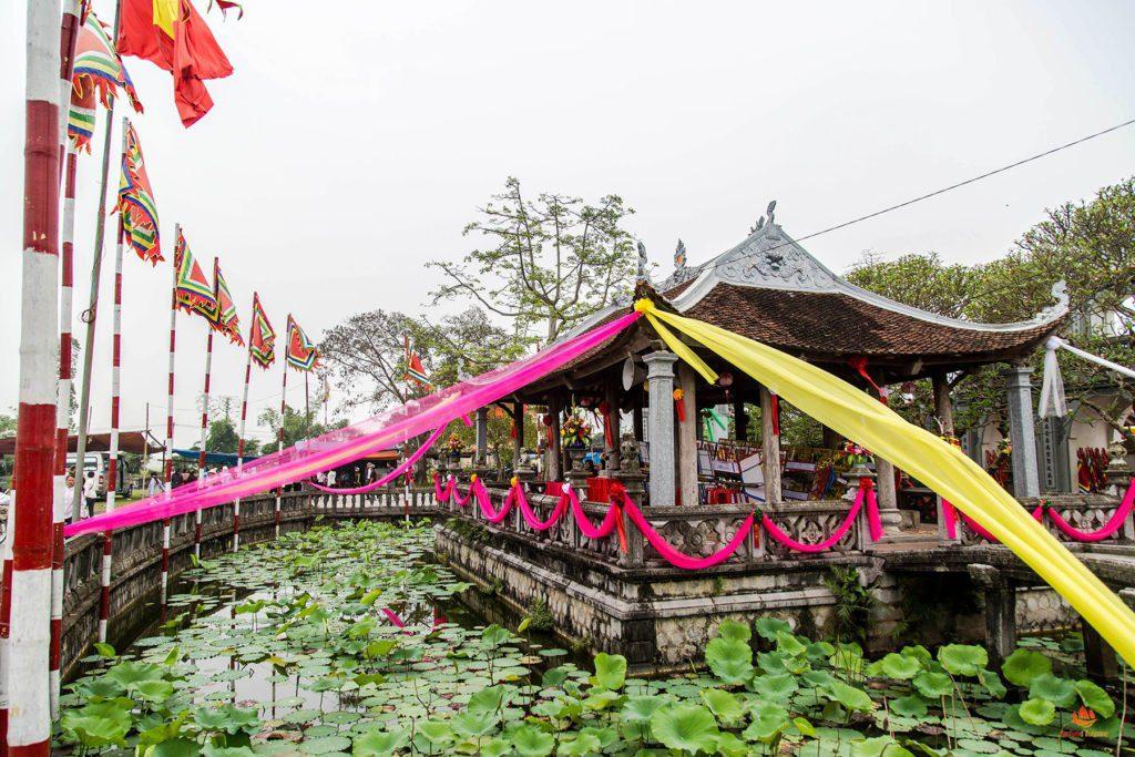Temple à l'entrée du Festival, Phu Day, Nam Dinh, Vietnam