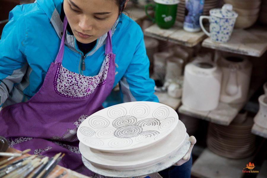 Les poteries du village de métier de Ba Trang, environs de Hanoi, Vietnam