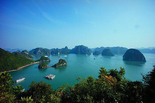 Paysages de la Baie d'Halong, Vietnam