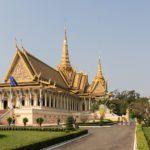 Vue extérieure du Palais Royal de Phnom Penh, Cambodge