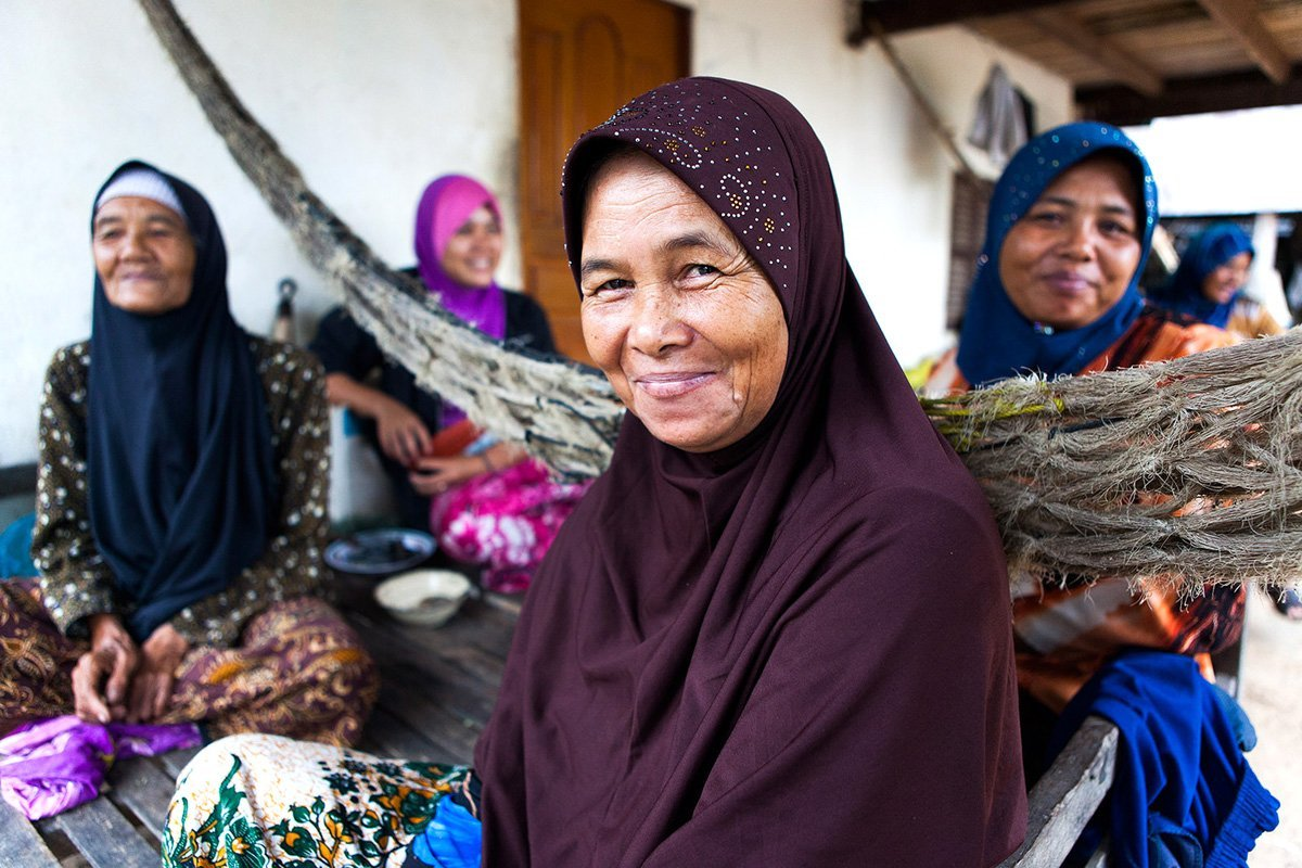 Portrait d'une femme Cham, Cambodge