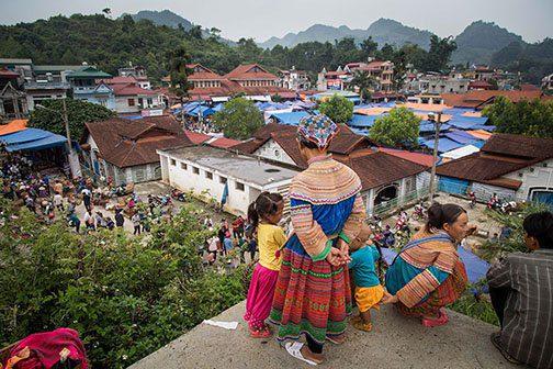 Le marché des minorités de Bac Ha au Nord Vietnam