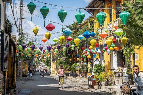Les jolies ruelles de la ville de Hoi An, Vietnam