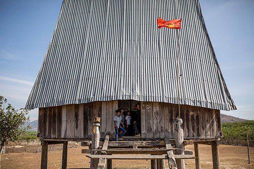 Maison traditionnelle dans les Hauts Plateaux, Vietnam