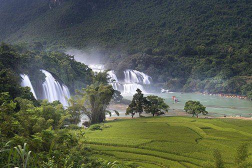 Chutes d'eau de Ban Gioc dans la province de Cao Bang, Vietnam