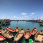 Un port de pêche sur l'Ile de Phu Quoc au Vietnam