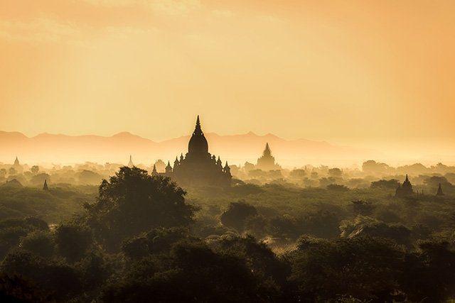 Pagodes de Bagan en Birmanie
