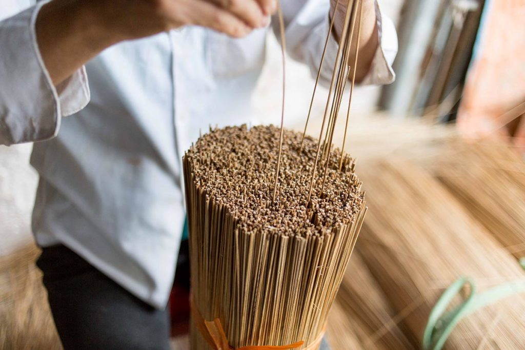 Batons de bambou, Vietnam