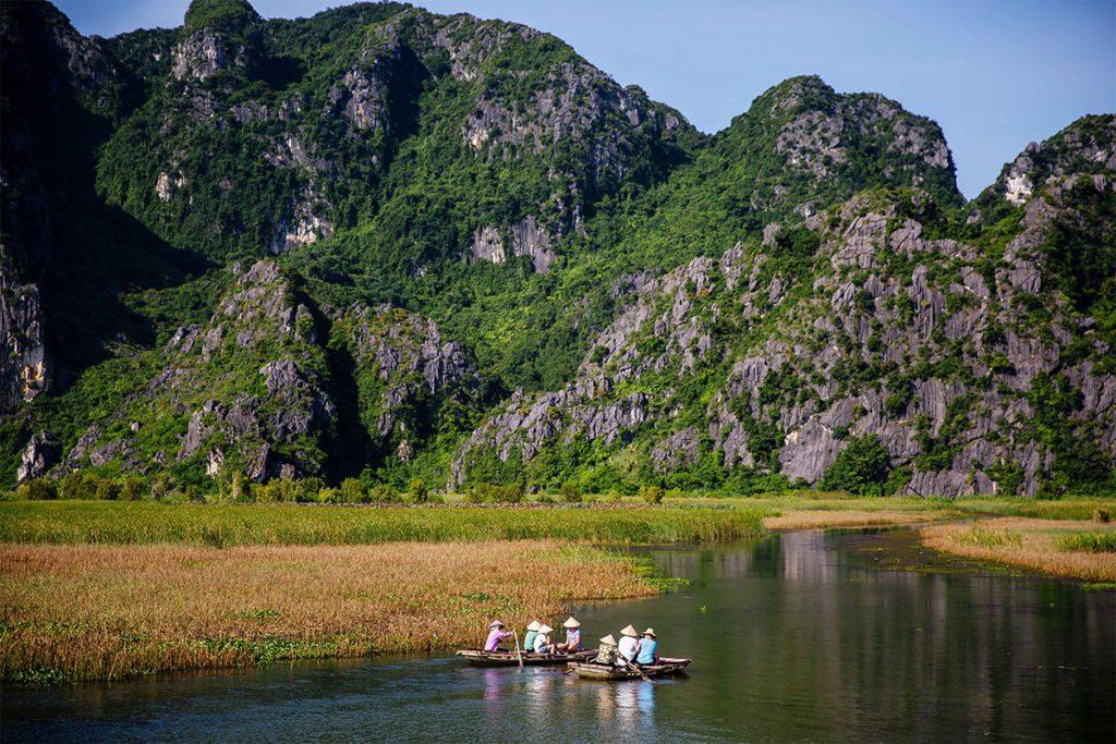 Paysage de Van Long, Ninh Binh, Vietnam