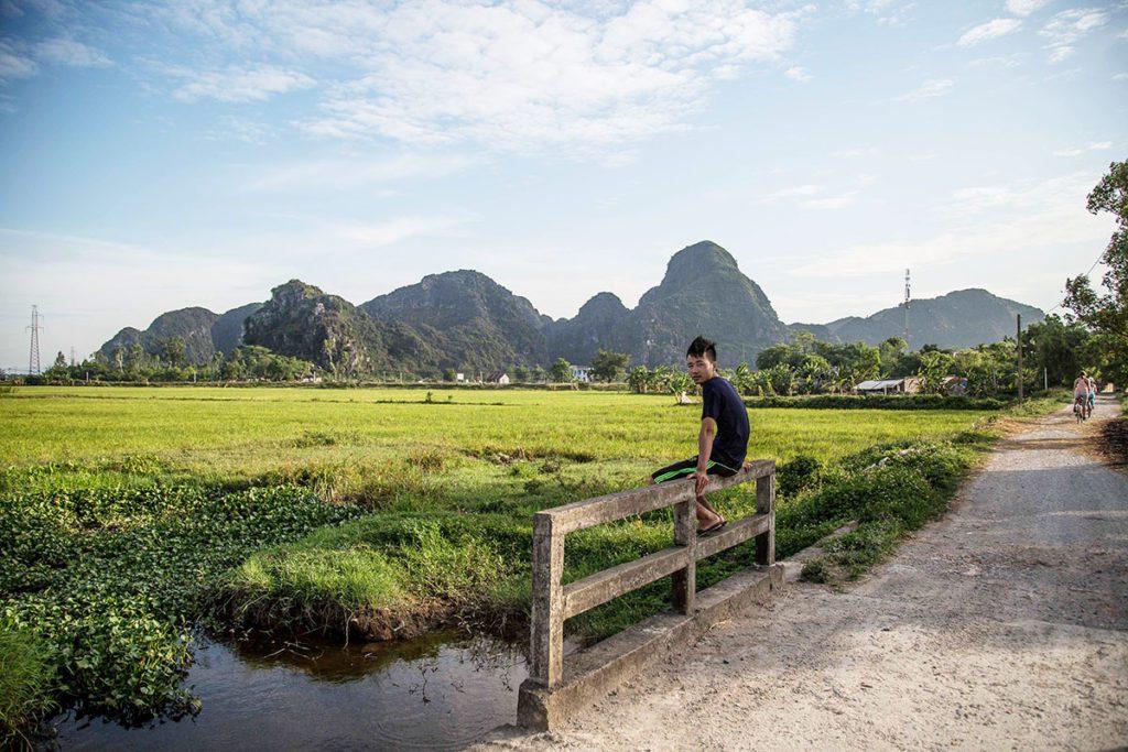 Campagne dans les environs de Tam Coc, Ninh Binh, Vietnam