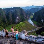 Paysage en haut de la montagne Hang Mua à Tam Coc, Ninh Binh, Vietnam
