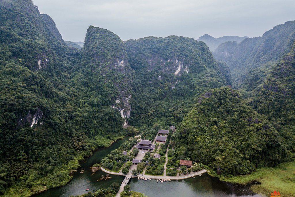 Le site de Trang An vue du ciel, Ninh Binh. Vietnam