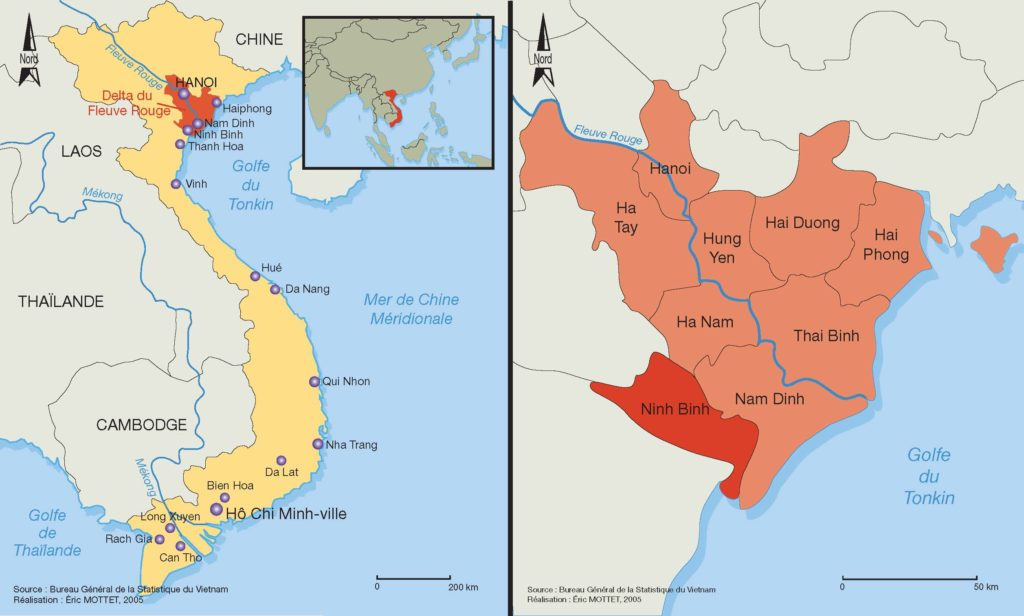 Carte de Ninh Binh, Vietnam