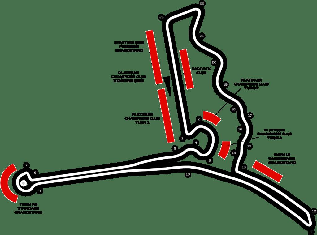 Le parcours du circuit de Formule 1 à Hanoi au Vietnam