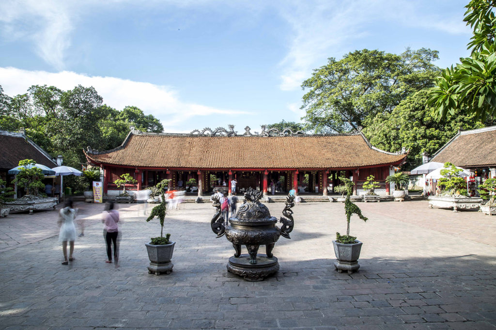 La dernière cour du Temple de la Littérature, Hanoi, Vietnam