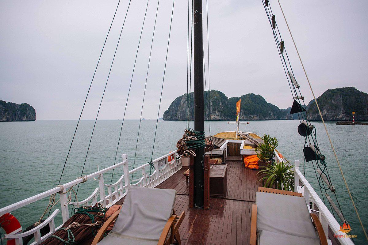Pont supérieur du bateau Majonq