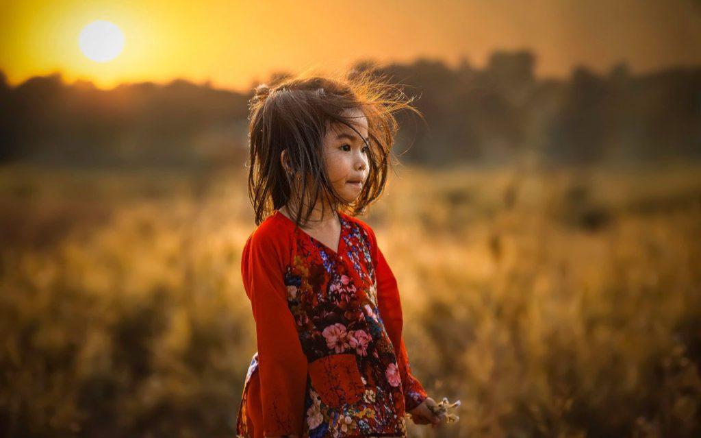 Petite fille minorité ethnique Vietnam