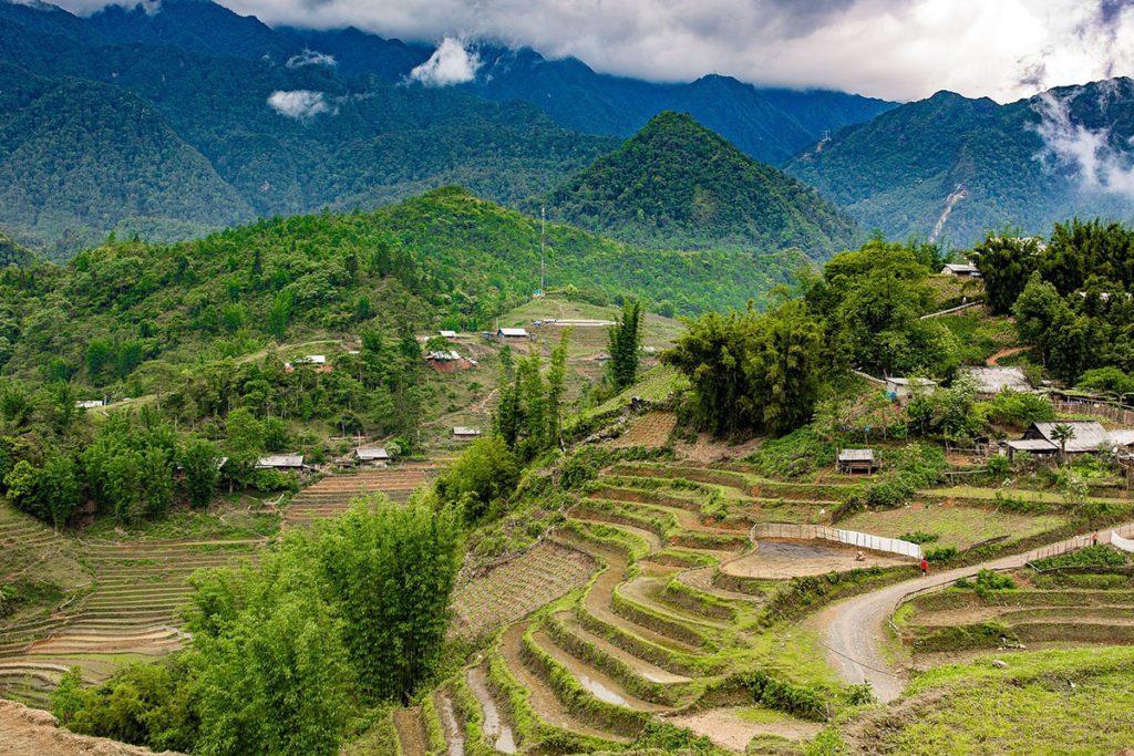 Paysages de Sapa au Vietnam