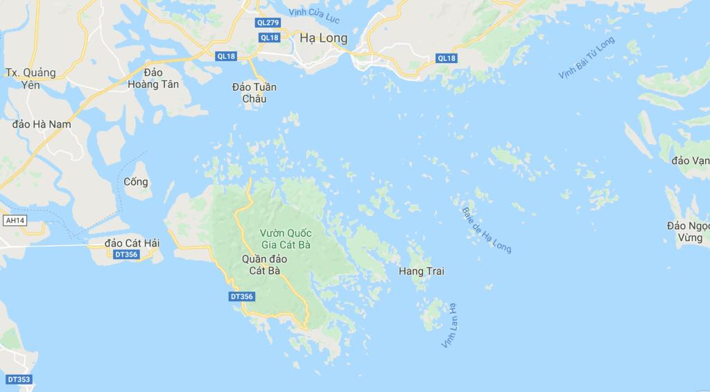 Carte des Baies d'Halong, Vietnam