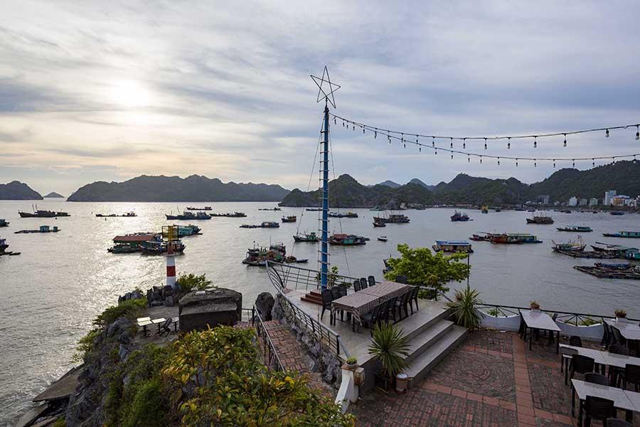 La vue depuis le restaurant de Le Pont Bungalow Hostel