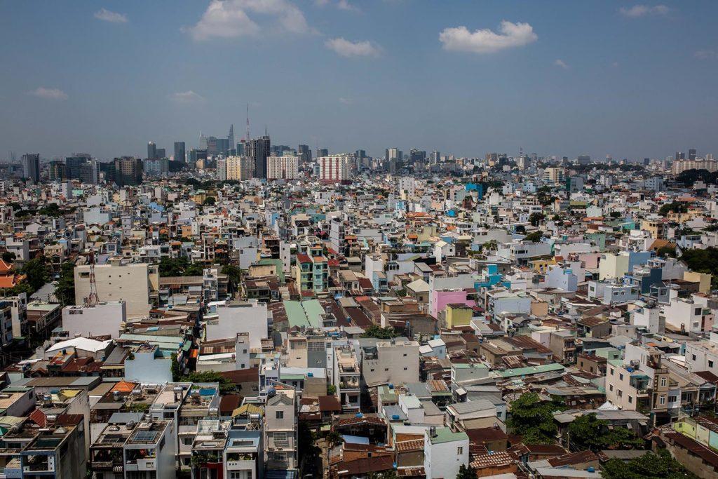 Densité des habitations à Ho Chi Minh Ville, Vietnam