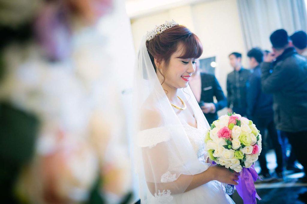 Cliché d'une femme pendant son mariage, Vietnam