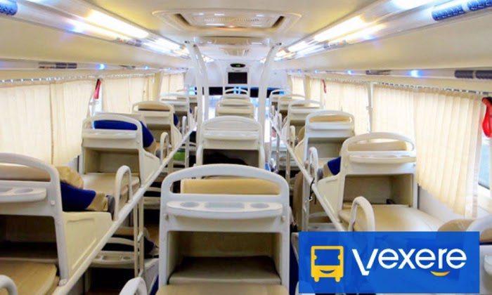 Intérieur d'un bus couchette au Vietnam