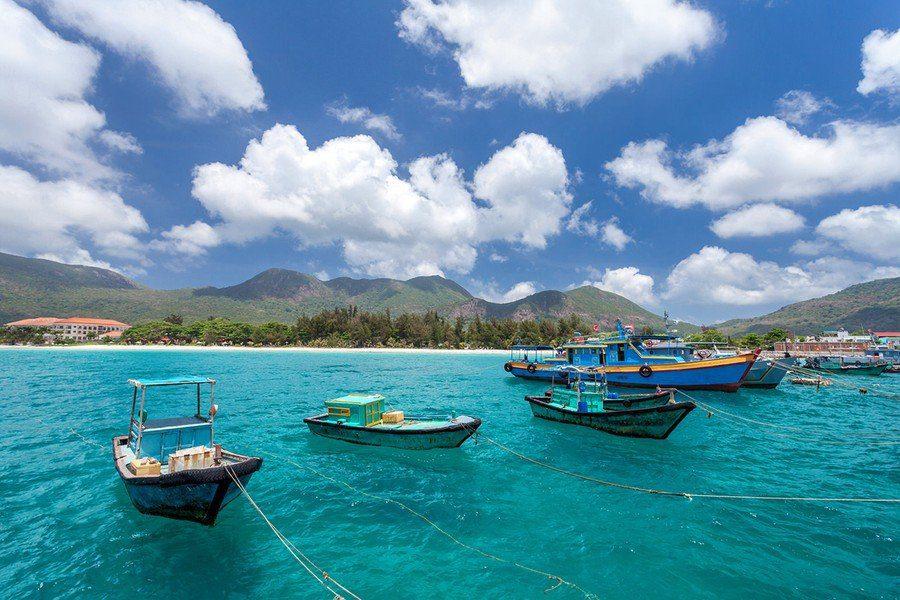 Paysage paradisiaque de l'ile de Con Dao, Vietnam
