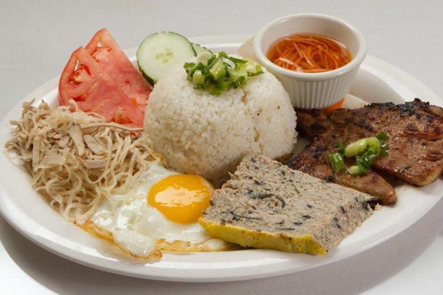 Com Tam, plat de Saigon, Vietnam