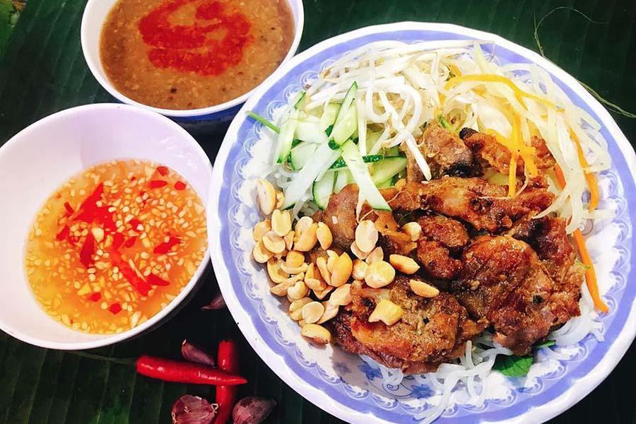 Plat de Bun Thit Nuong Hue