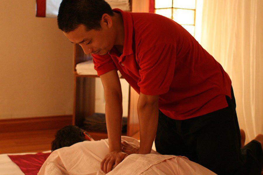 Personne en train de se faire masser, Just massage, Hanoi