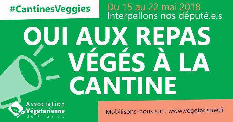 Une affiche en France de l'association végétarienne