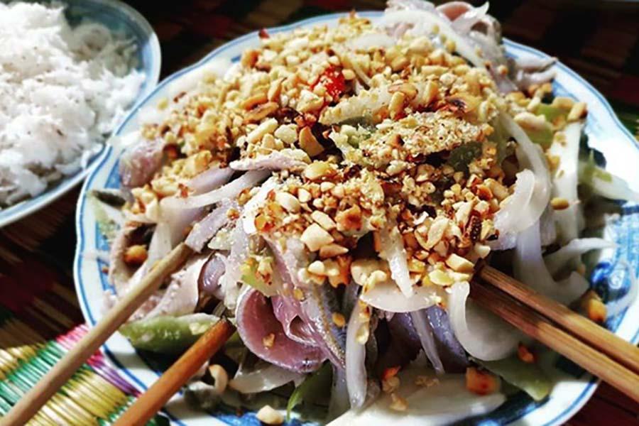 Un plat de Goi ca Nam O de Danang