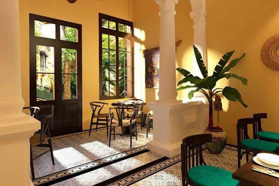 Le charmant intérieur du restaurant V's Home