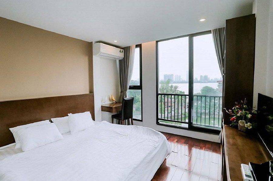 Chambre double à l'hôtel Awa Boutique, Hanoi