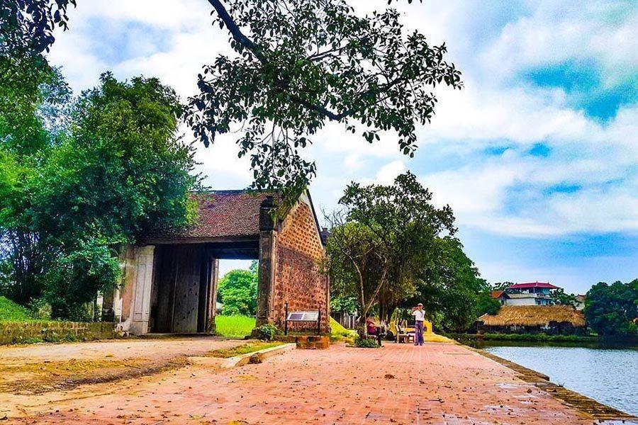 Paysage du village de Duong Lam, Vietnam