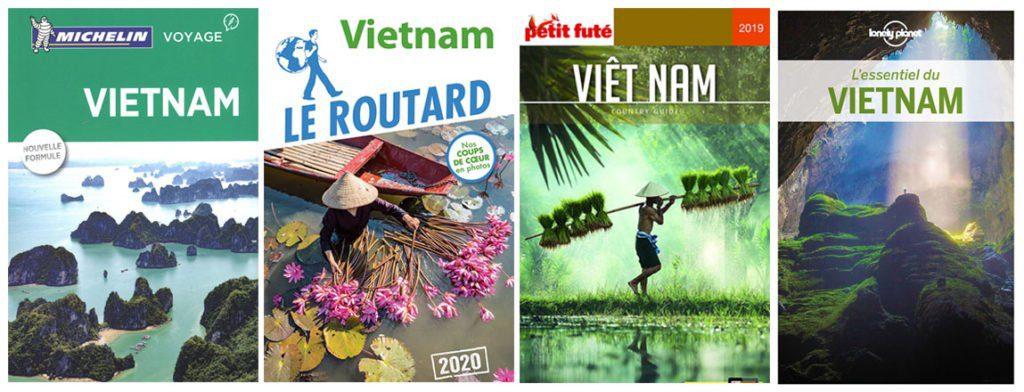Collage couvertures Guide touristiques vietnam