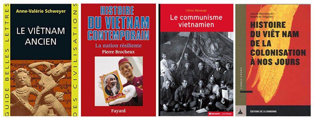 Couvertures des livres d'histoire sur le Vietnam