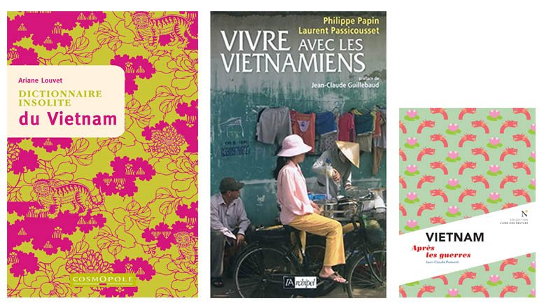 Couvertures des livres introductifs sur le Vietnam