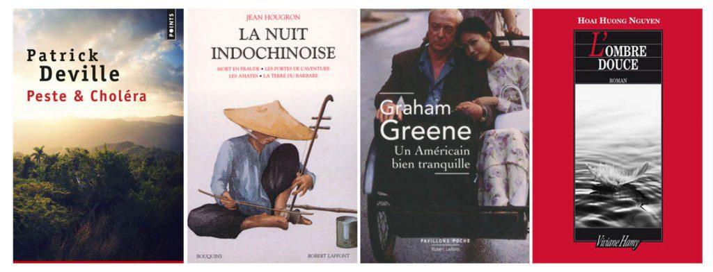 Couvertures de romans sur l'Indochine