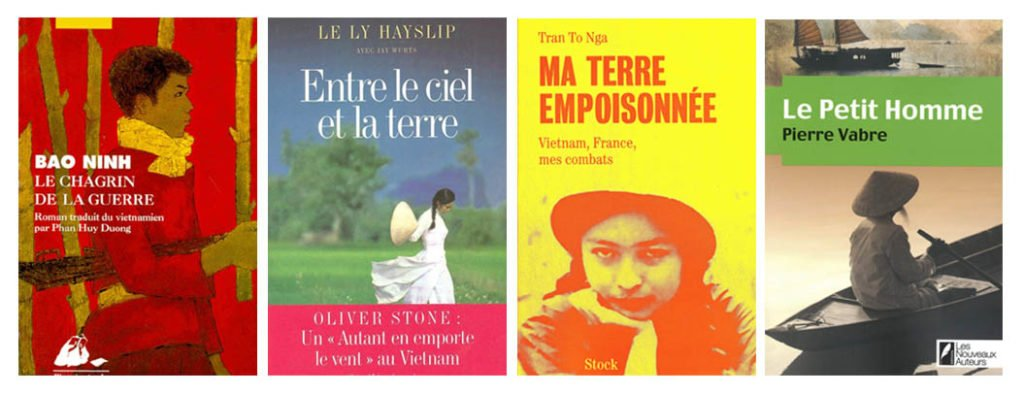 Couvertures de romans traitant de la guerre du Vietnam